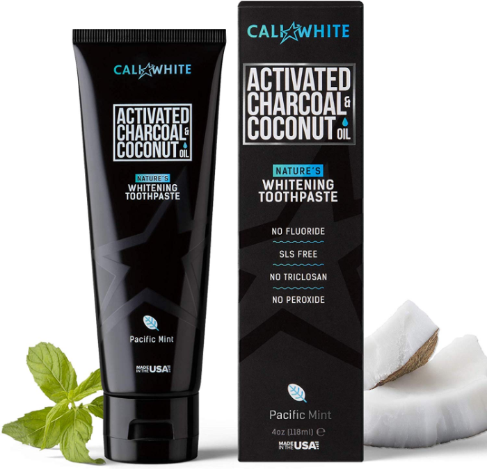 Cali White Charcoal & Organic Coconut Oil Teeth Whitening Toothpaste